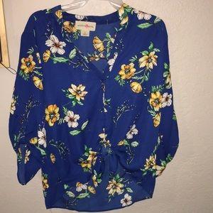 Hawaiian style blouse